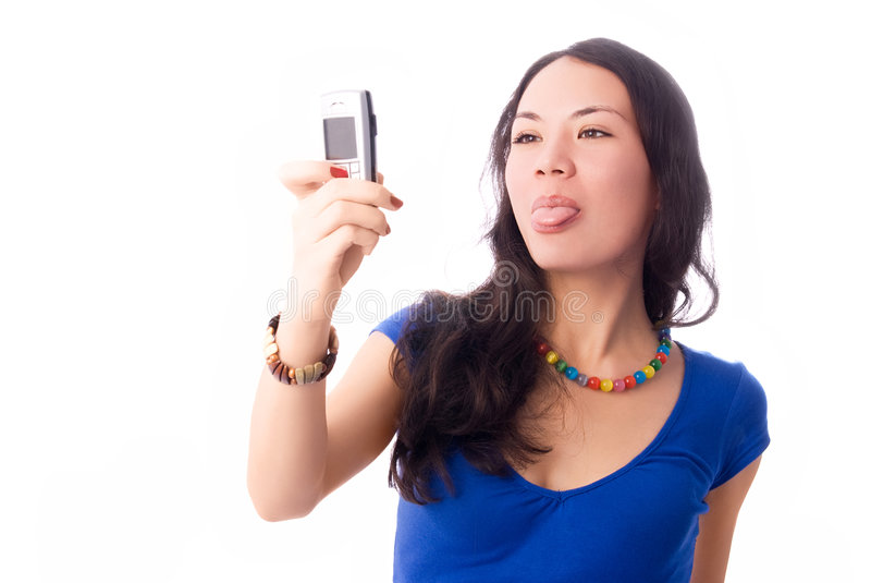Download Beautiful Girl Taking A Picture Of Herself Stock Photo - Image: 7355690