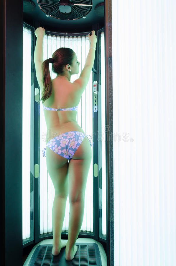 Download Beautiful Girl Tanning In The Solarium Stock Image - Image: 29492617