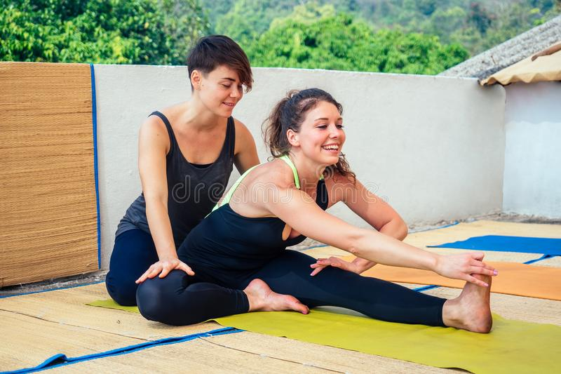 Black lesbians in yoga pants Lesbian Yoga Photos Free Royalty Free Stock Photos From Dreamstime