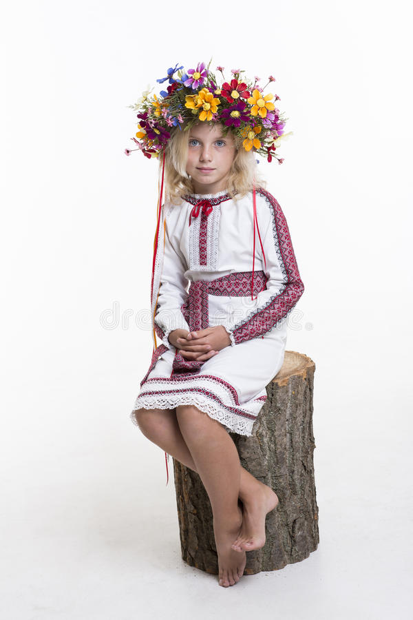 Download Beautiful Girl In Ukrainian Ethnic Clothing Stock Photo - Image: 33437372