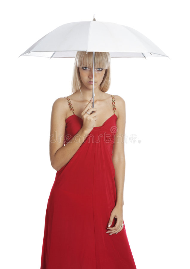 The beautiful girl with a umbrella