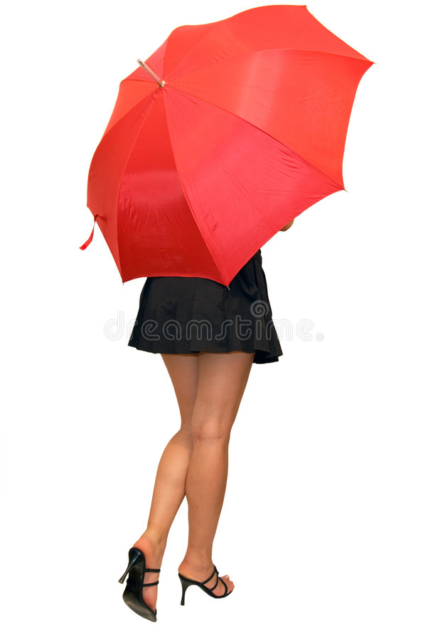 Download Beautiful Girl Under The Red Umbrella Stock Photo - Image: 4781798