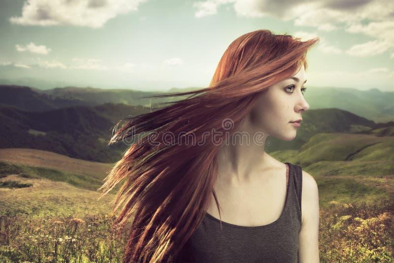 Beautiful girl upland royalty free stock photos