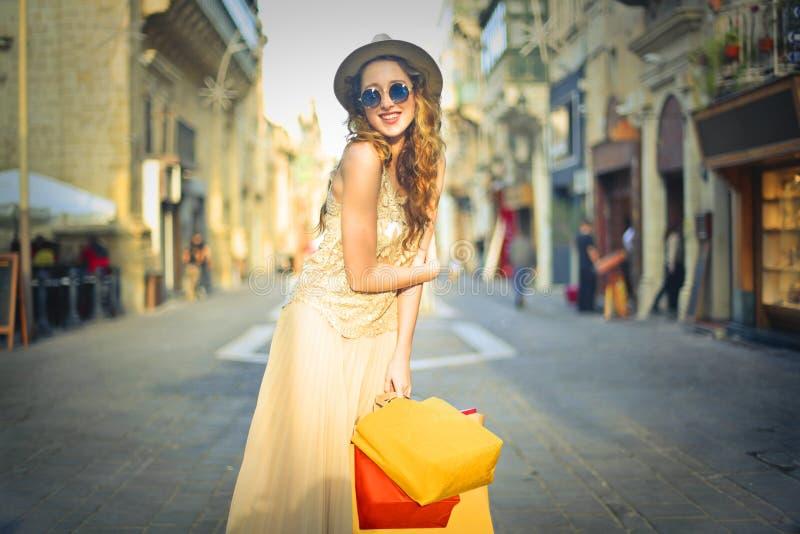 Beautiful girl on vacation stock image