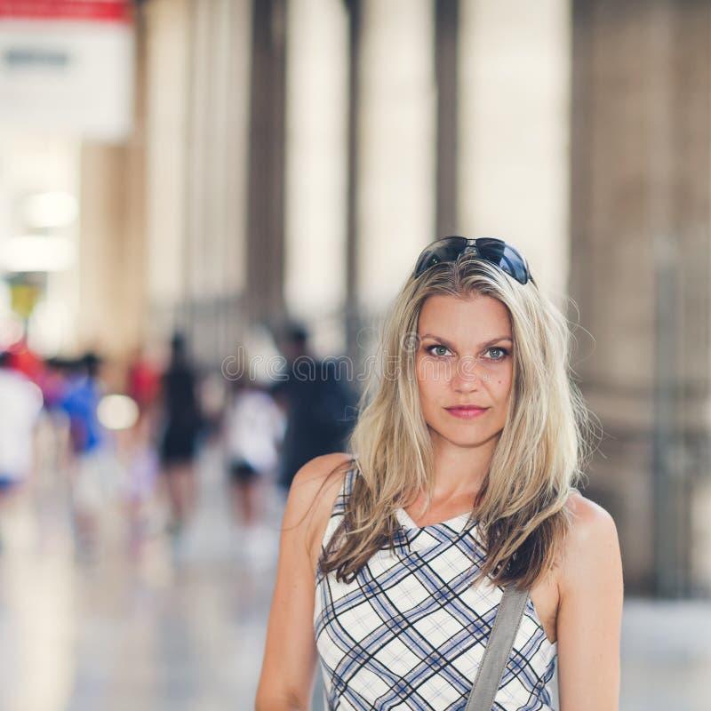 Download Beautiful Girl Is Waiting At The Railway Terminal Stock Photos - Image: 29444923