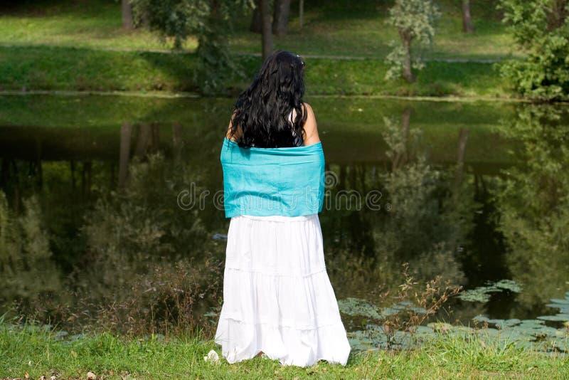 Beautiful girl walking stock photography