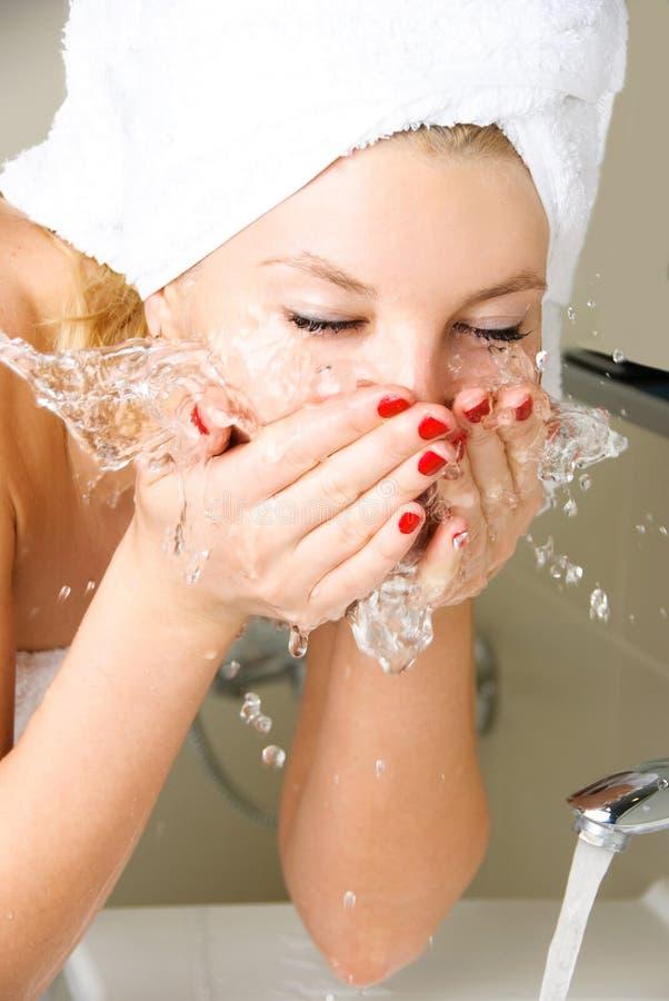 Free Beautiful Girl Washing Her Face Stock Photos - 8732183