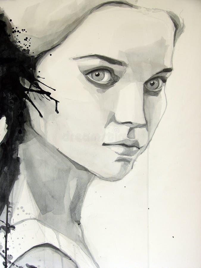 Beautiful girl royalty free illustration