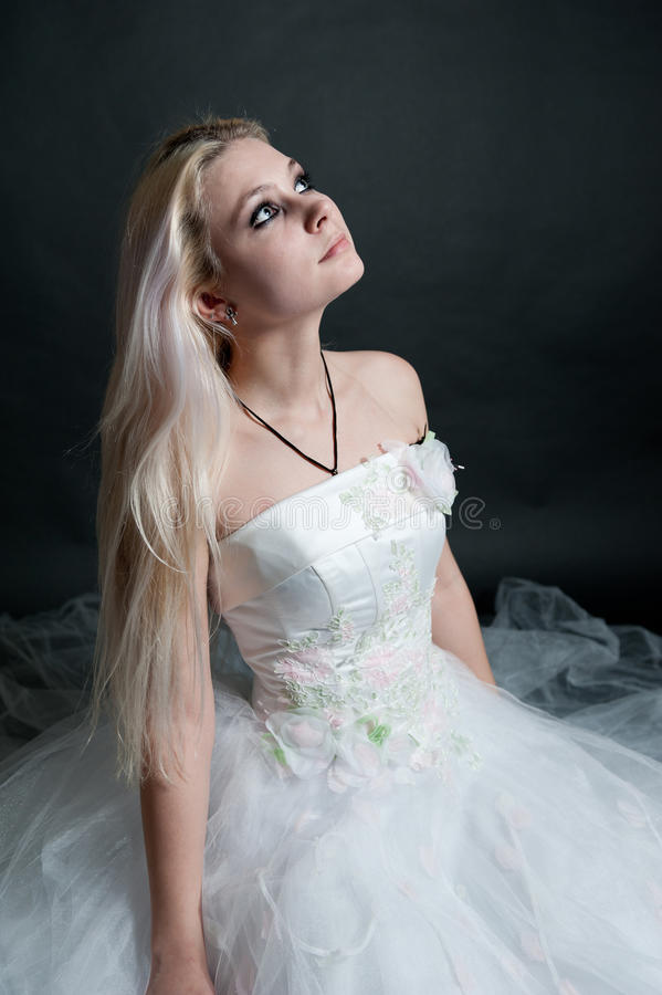 Download Beautiful Girl In White Dress Stock Photo - Image: 17959172