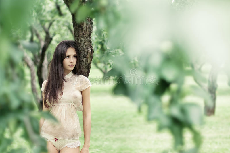 Download Beautiful Girl In A Wild Garden Stock Photo - Image: 23185934