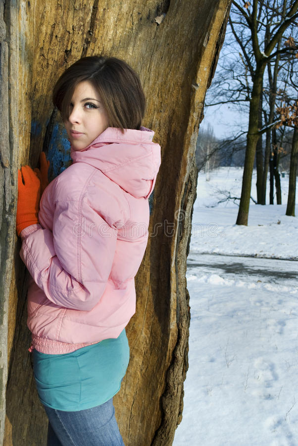 Download Beautiful Girl In The Winter Stock Photo - Image: 21611382