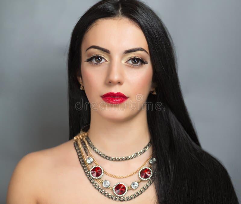 Woman long hair stock photos