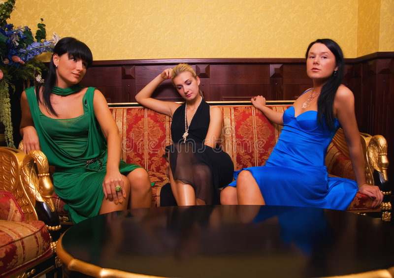 Download Beautiful girls stock photo. Image of copy, glamor, hotel - 2899562