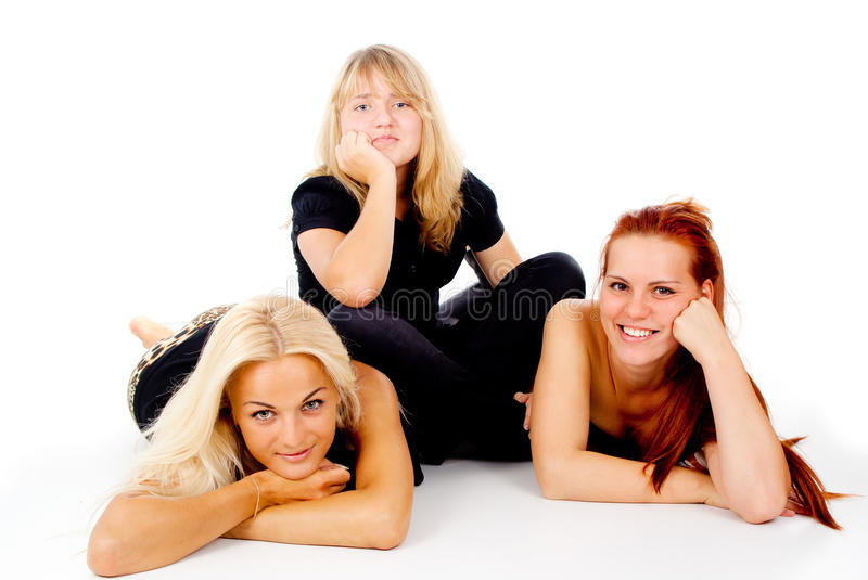 Download Beautiful Girls Look Into The Camera Stock Image - Image: 27546709