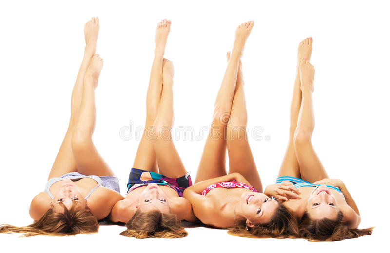 Beautiful girls with perfect bodies royalty free stock photos