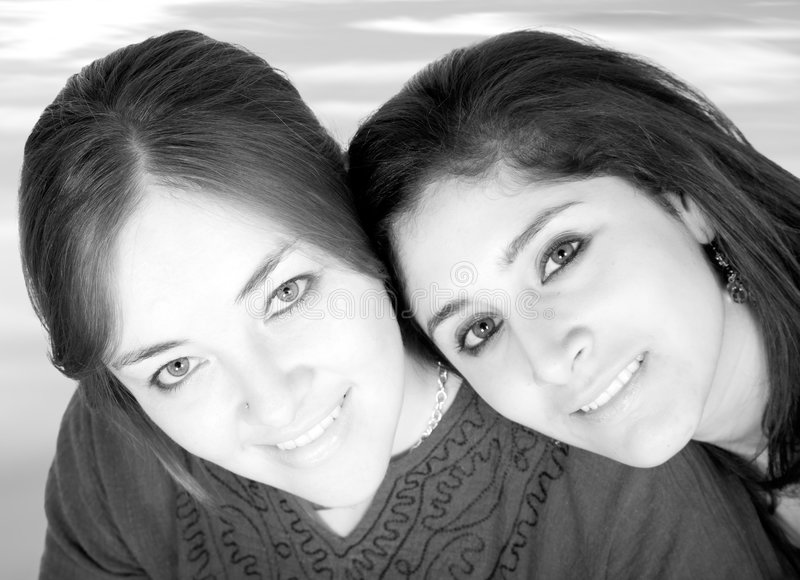 Download Beautiful girls portrait stock image. Image of sisters - 1228145
