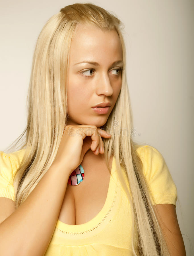 Beautiful glamor girl royalty free stock image