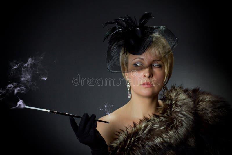 Beautiful glamorous woman in the studio royalty free stock photo