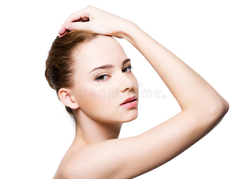 Beautiful glamour woman face royalty free stock photography