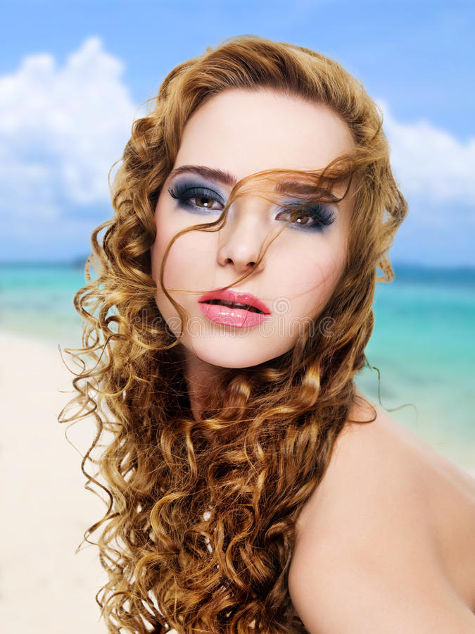 Download Beautiful Glamour  Woman With  Long Curly Hairs Stock Photography - Image: 28773542