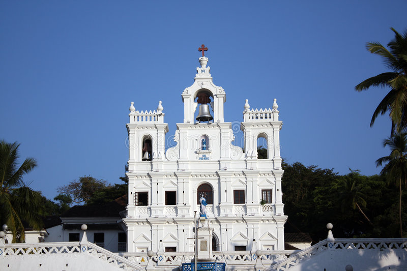 Beautiful Goa Church stock photography