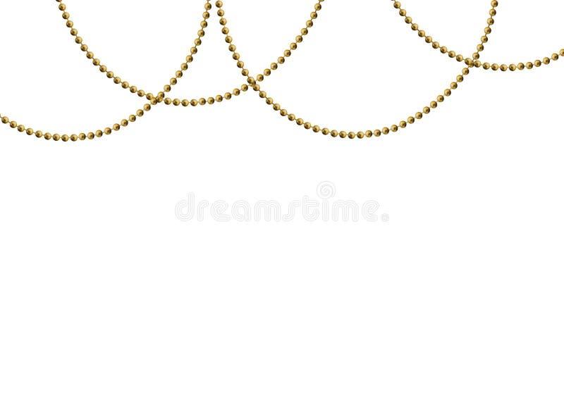 Beautiful Gold beads royalty free illustration