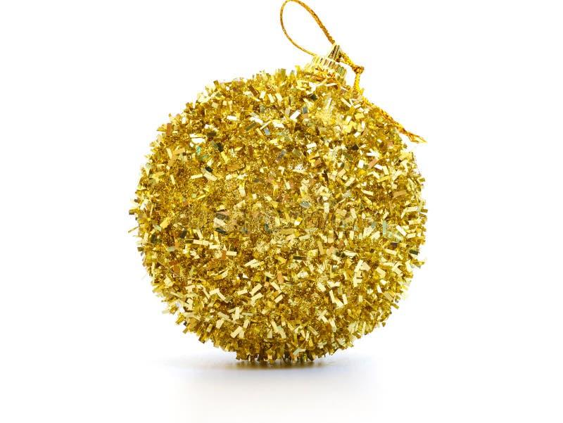a beautiful gold christmas ball royalty free stock photo
