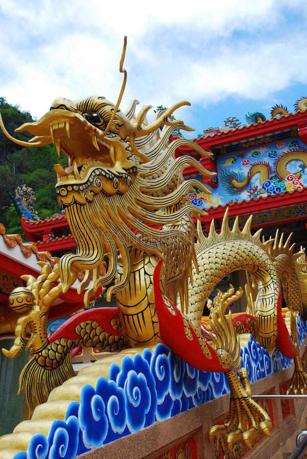 Free Beautiful Gold Dragon Royalty Free Stock Image - 14385936