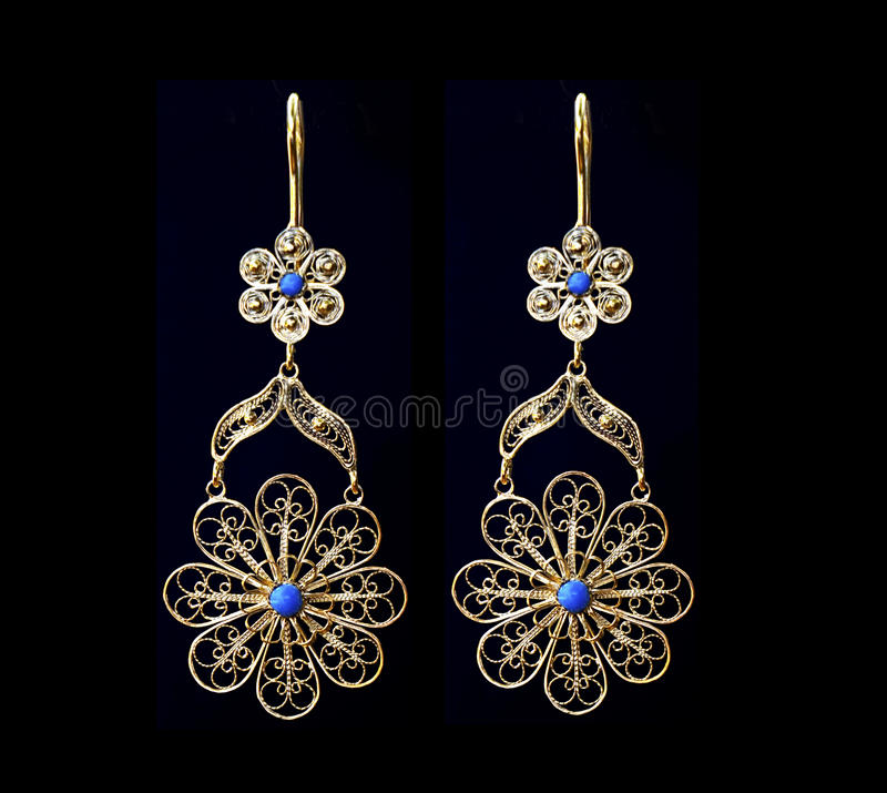 Beautiful Gold Ornaments On A Dark Background. Jewelry For Women ...