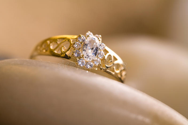 Beautiful gold ring stock photo Image of white gold