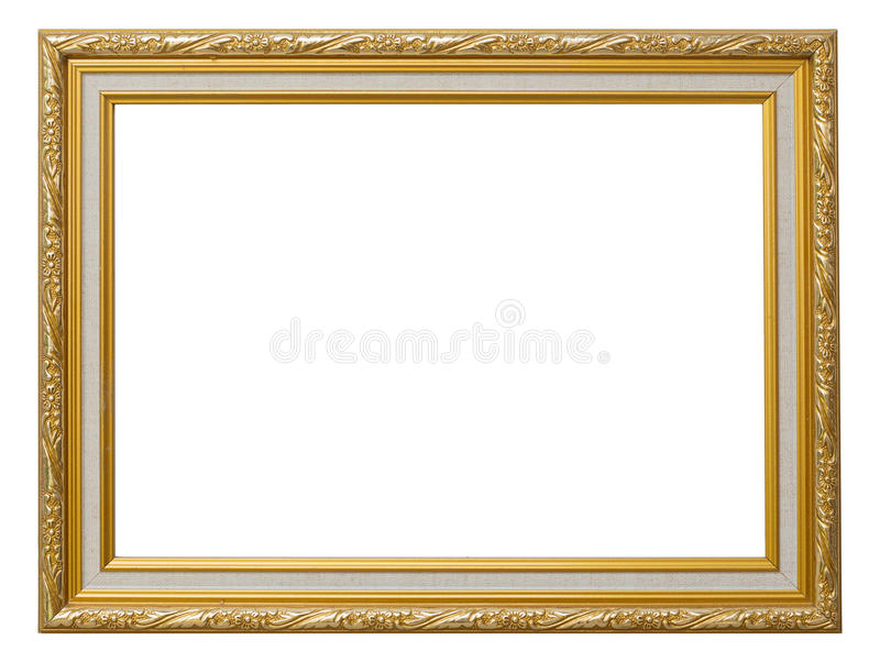 Beautiful Gold Vintage Frame Luxury Isolated White Background. Stock ...