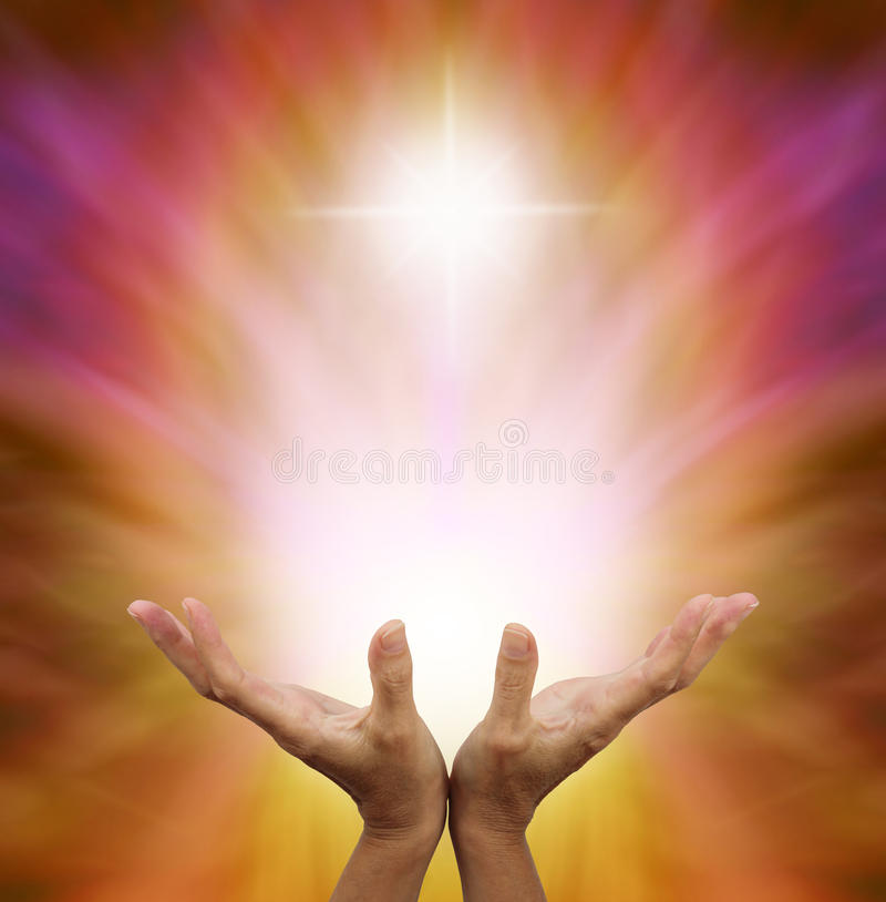 Beautiful Golden Healing Energy royalty free stock photo
