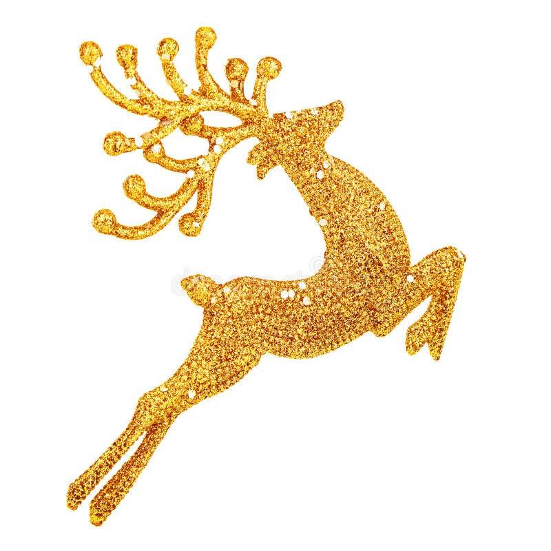 Beautiful golden reindeer decoration stock images