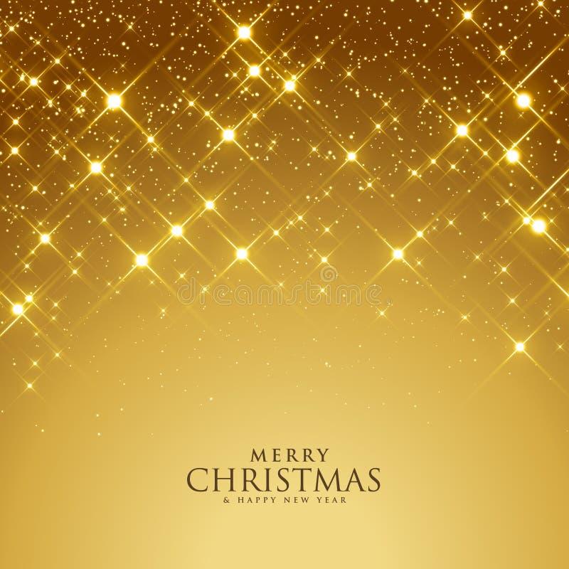 Beautiful golden sparkles festival background vector illustration