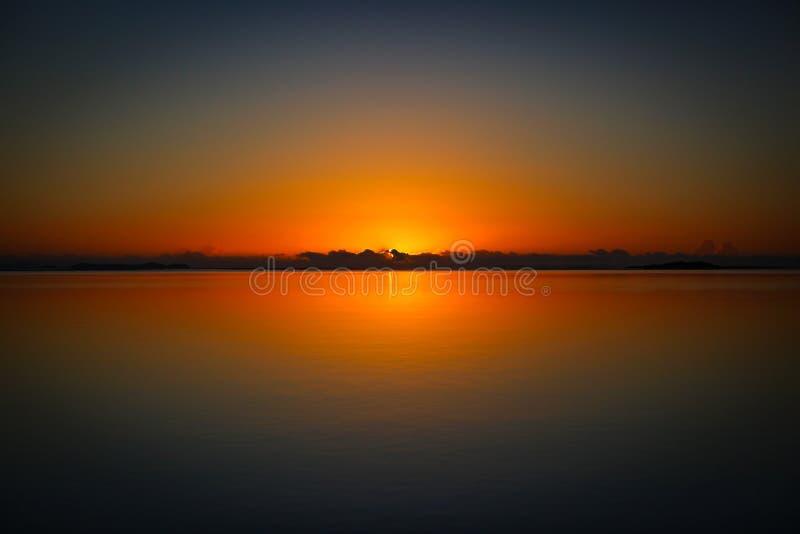 Australian Morning Orange Glow Sunrise royalty free stock image
