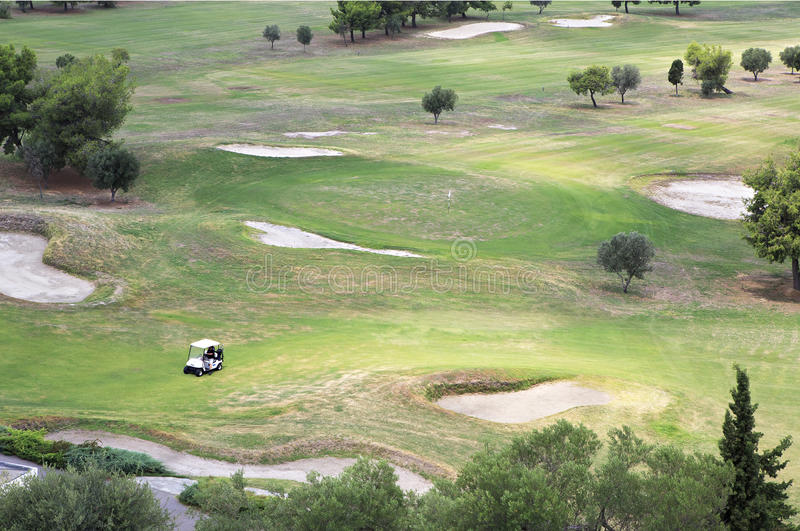 Beautiful golf course of Porto Carras Grand Resort. stock image