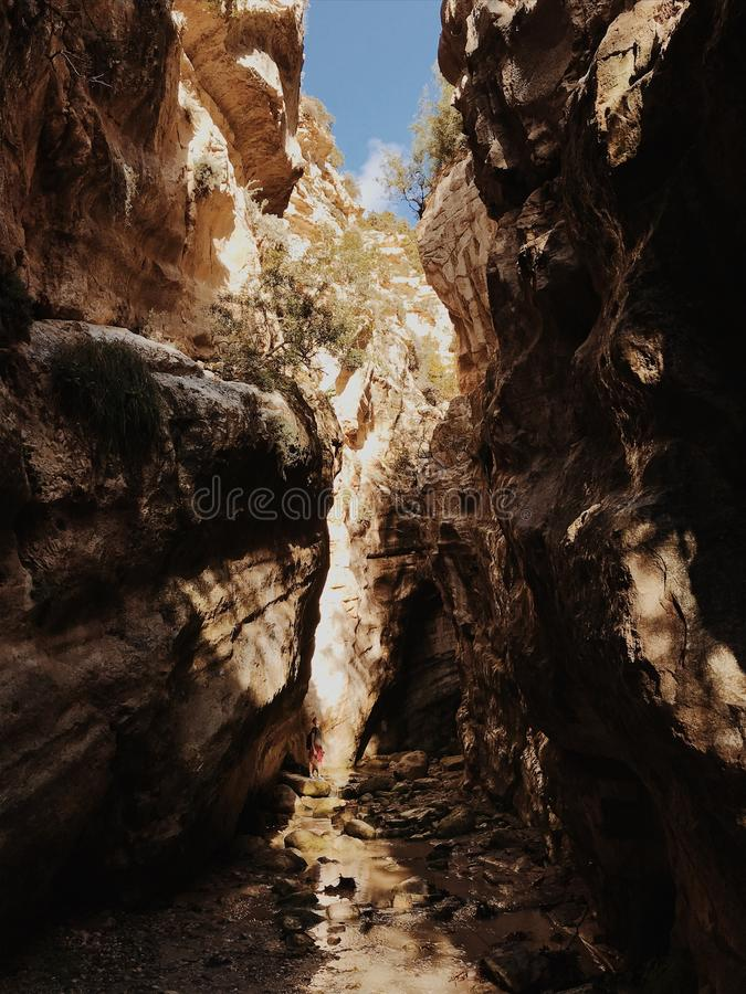 Beautiful Gorge in Cyprus stock photos