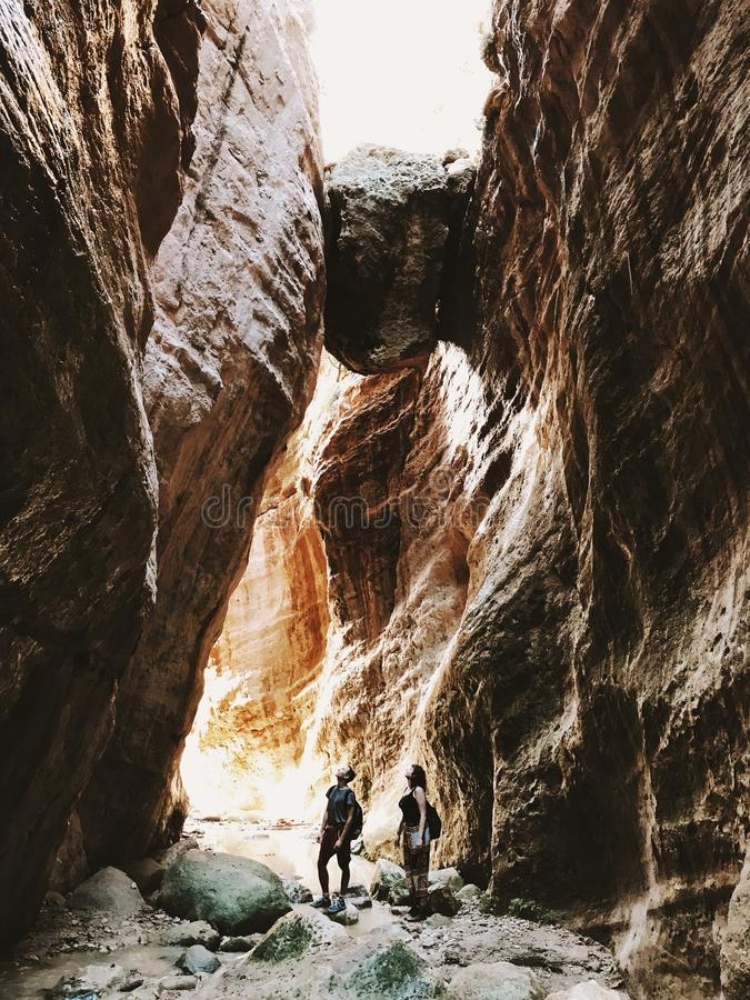 Beautiful Gorge in Cyprus stock photography