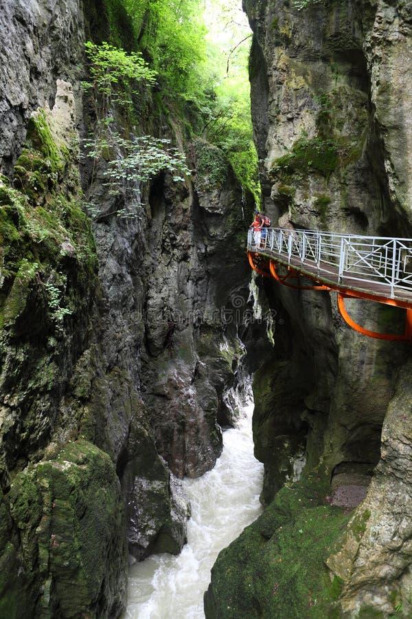Beautiful gorge, river canion, France. Gorges du Fier, beautiful gorge, river canion, France royalty free stock image