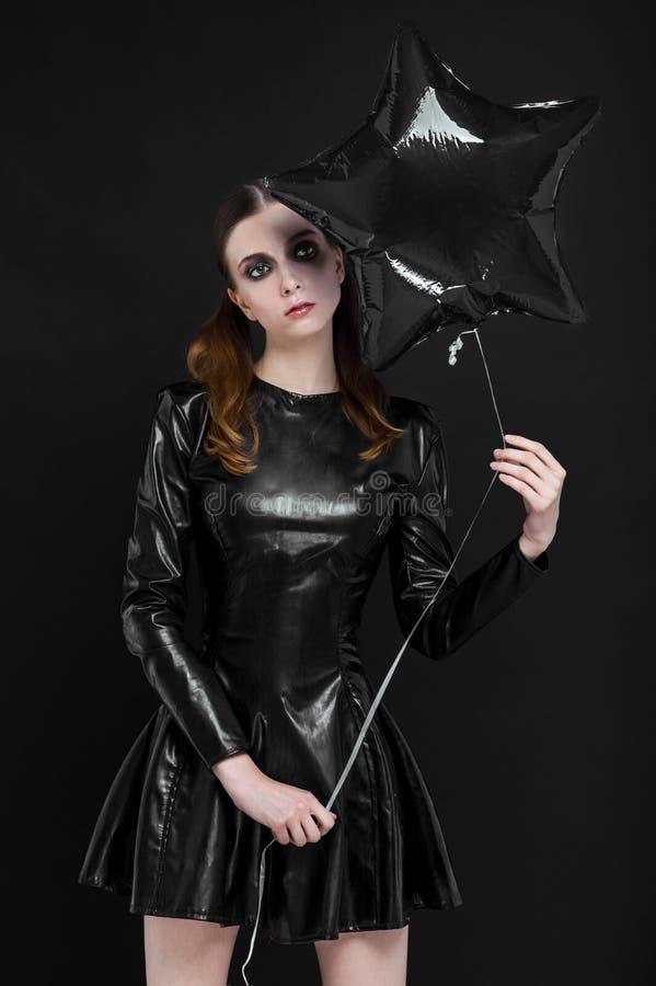 Free Beautiful Goth Mistress Evil Girl Stock Photo - 96484460