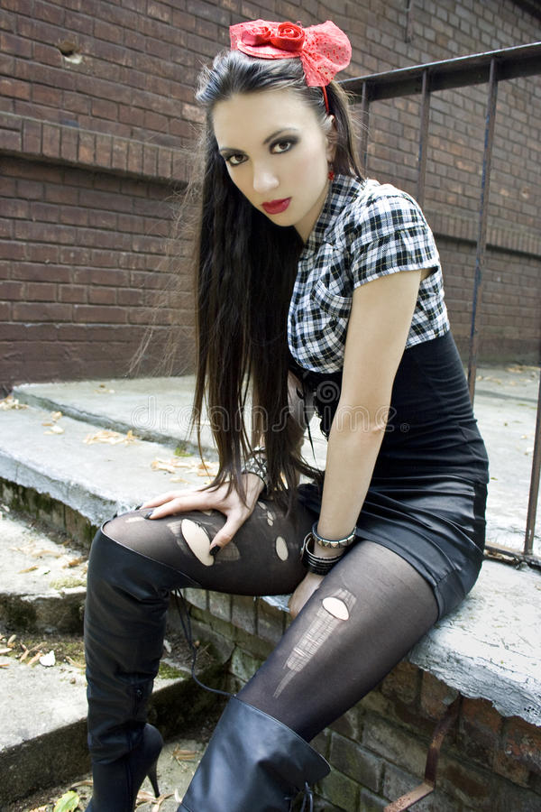 Punk And Gothic Fashion Stock Photo. Image Of Elizabethan - 44231754