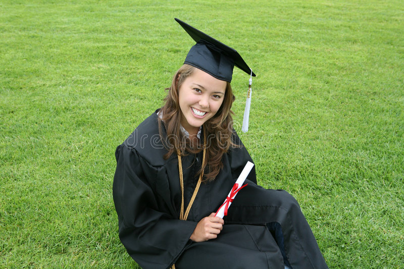 Beautiful Graduate royalty free stock photos