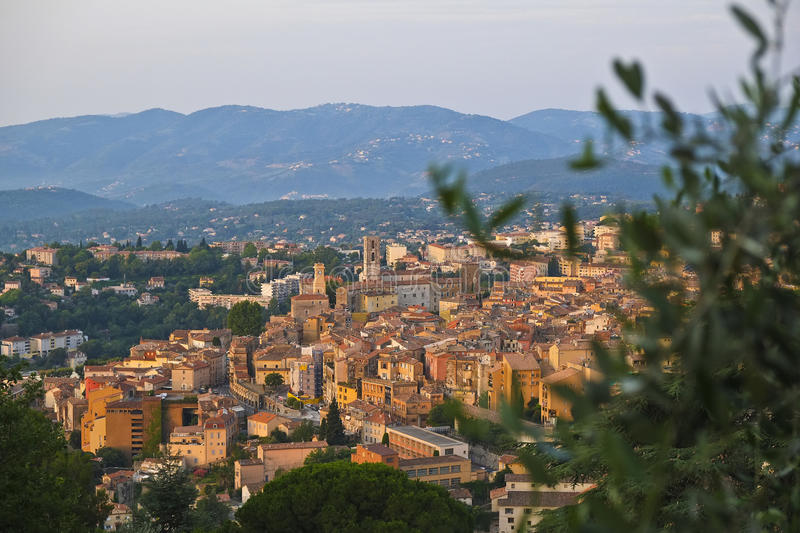 Beautiful Grasse in the morning. Grasse, traditionnal french provencal city at beautiful morning lighting stock photography