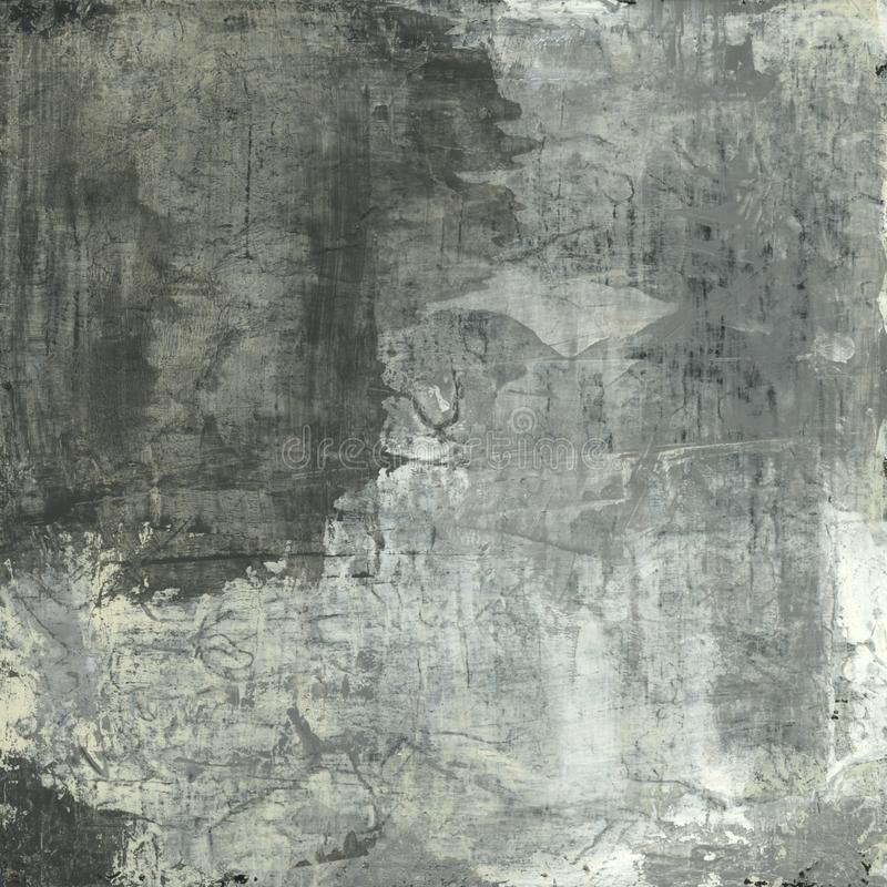 Abstract Painting Grey Tones royalty free stock photo
