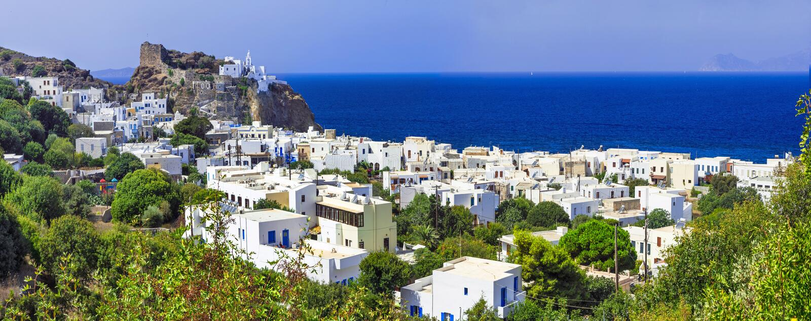 Beautiful Greek islands - Nisyros (Dodecanese) stock photo