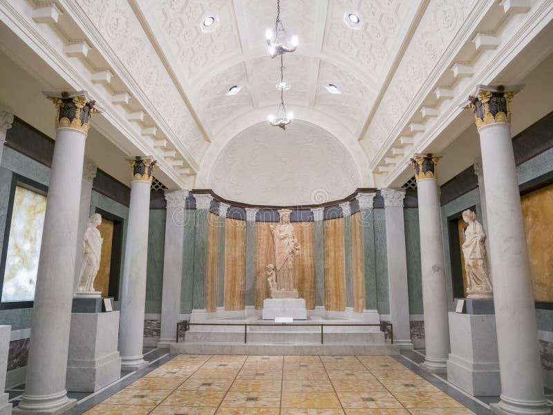 Beautiful Greek style exhibit royalty free stock photography