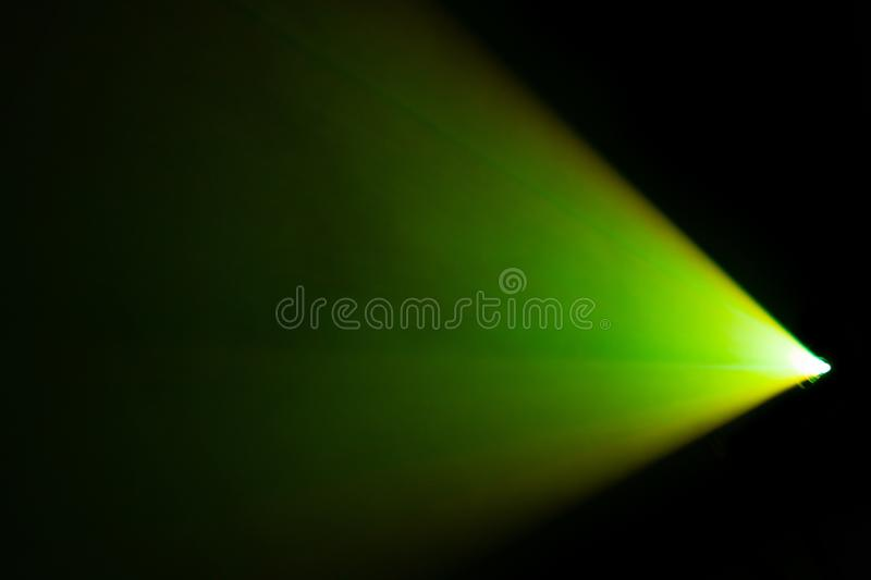 Beautiful green color wide lens projector spotlight . smoke abstract texture background . screening for multimedia royalty free stock photo