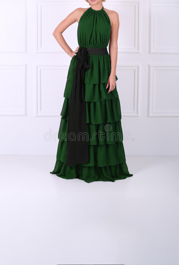 Beautiful green dress stock images