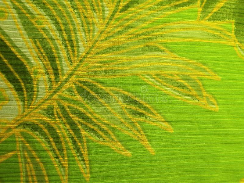 Beautiful green fabric with leaves royalty free stock photography