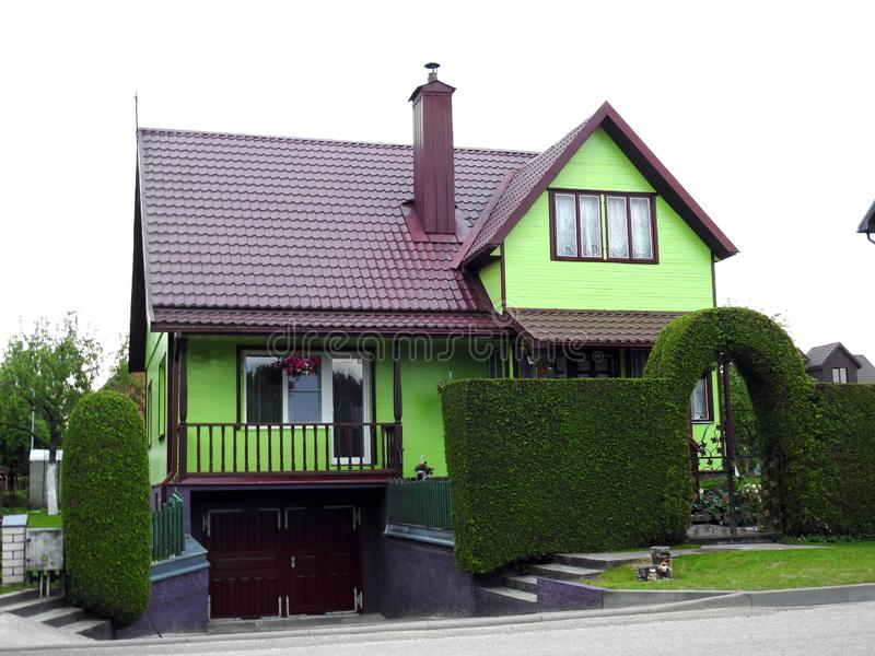 Beautiful green home and plants, Lithuania royalty free stock photo